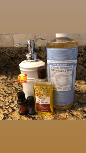 DIY essential oils soap