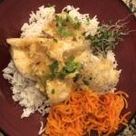 sweet spicy orange halibut