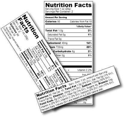 ingredient labels