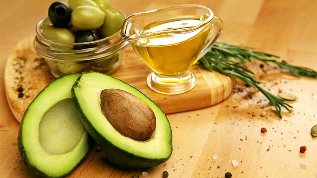 olive and avocado oil