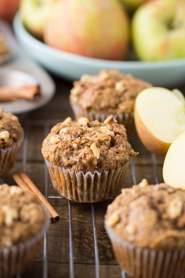 lectin free apple walnut muffin